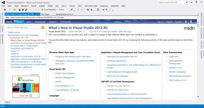 Visual Studio 2012RC