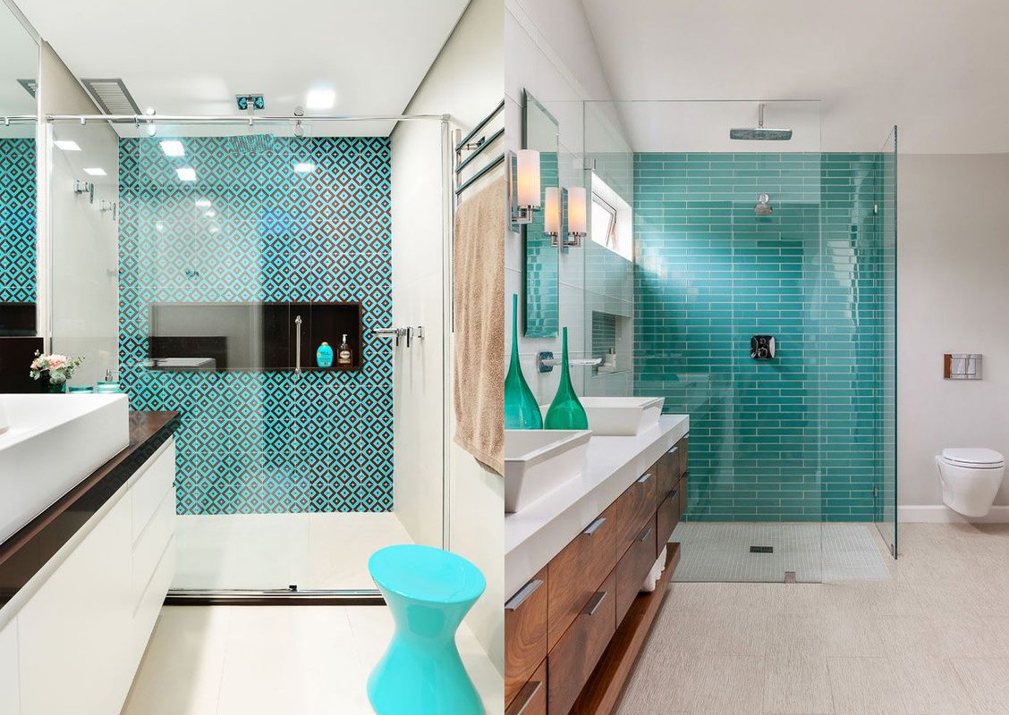 17 ideas para decorar el baño con color turquesa