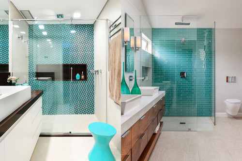 17 ideas para decorar el baño con color turquesa