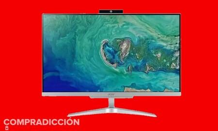Si buscas un todo en uno para trabajar, MediaMarkt te deja este Acer Aspire C24-963 por 499 euros