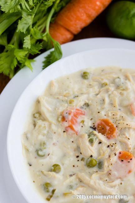 Sopa Pollo Vegetales