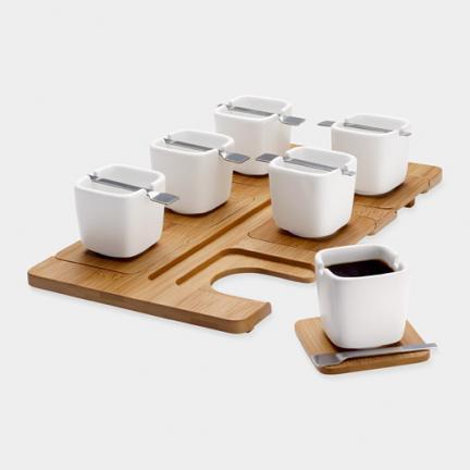 Set de espresso cuadrado de diseño