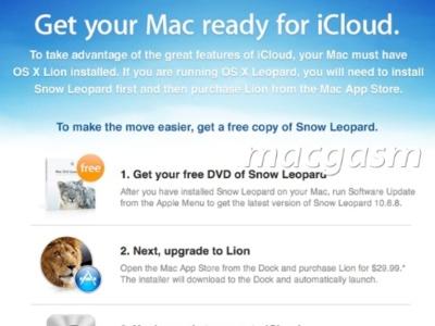 Apple regala licencias de Snow Leopard a los usuarios de MobileMe para motivar la adopción de iCloud