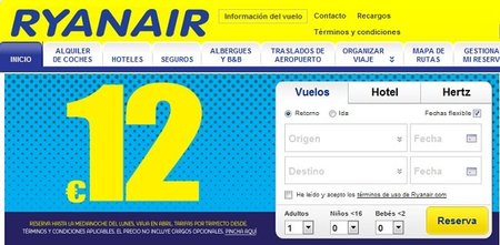 Vuele con Ryanair desde 12 euros