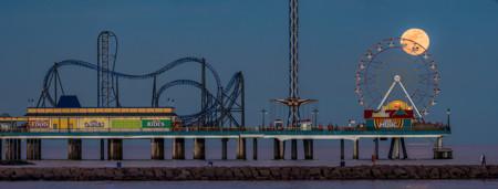 Moonrise At The Pier Sergio Garcia