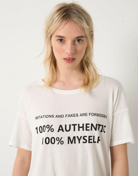 Bershka Camiseta Autentica