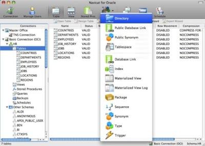 Navicat Lite, un buen cliente de Oracle para Mac OS X