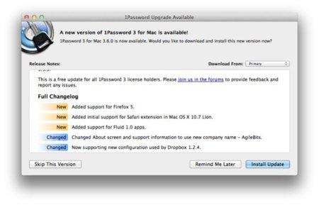 1Password ya es compatible con el próximo sistema de Apple OS X Lion