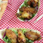 Alitas de pollo al curry. Receta de aperitivo