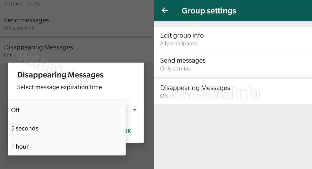 WhatsApp añadirá mensajes que se autodestruyen, según WaBetaInfo