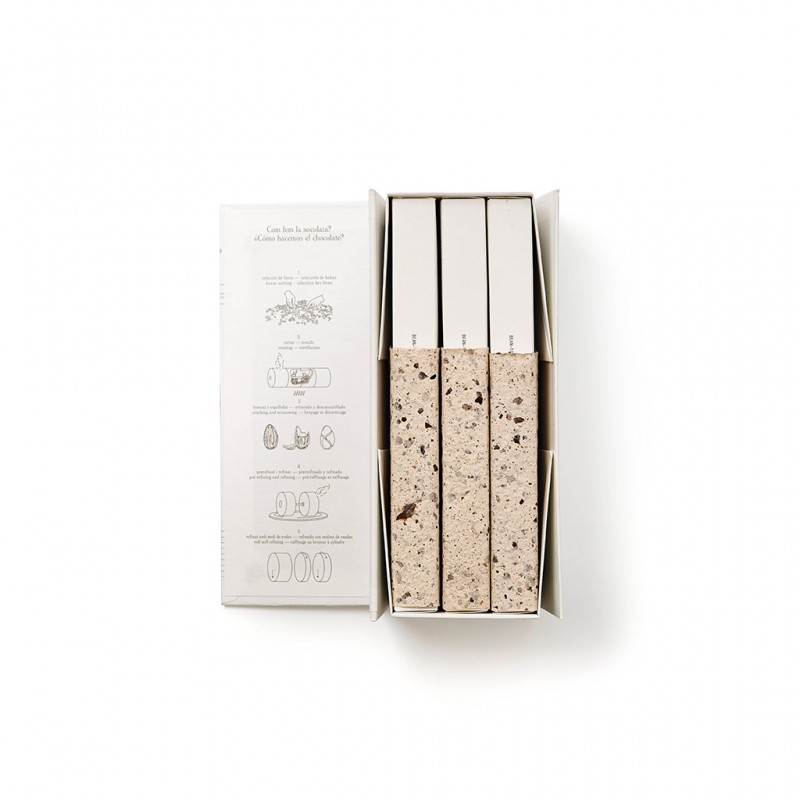 Colección de tres turrones de cacao de Jordi Roca