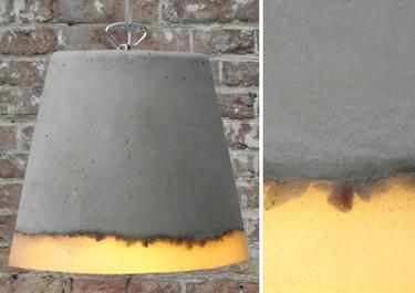 Hormigón y silicona unidos en una misma lámpara