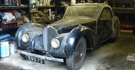 Hay gente con mucha suerte (XXI): encontrarse un Bugatti clásico de 3 millones de euros