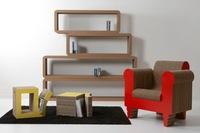 Interesante colección de muebles de cartón de Kubedesign