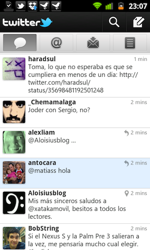 Twitter para Android 2.0