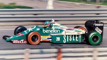 Hace 25 años también pintaban los neumáticos en la Fórmula 1