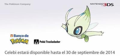 Celebi se despide del Banco de Pokémon