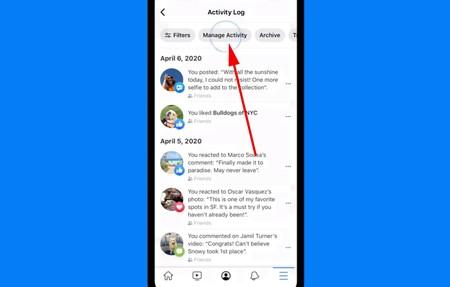 Administrador Actividad Facebook
