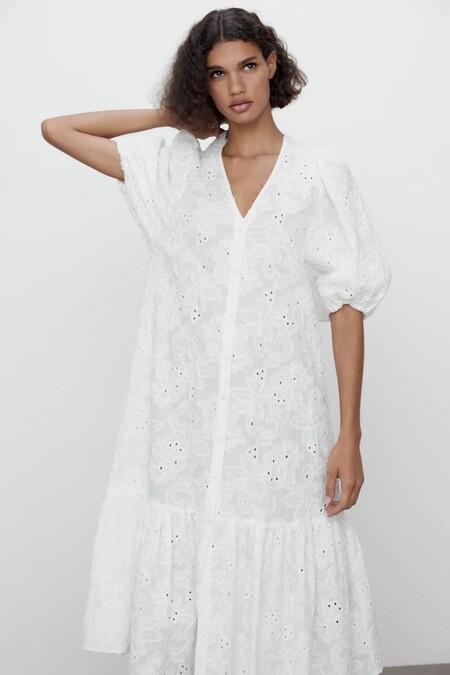 Vestido Blanco De Zara 10