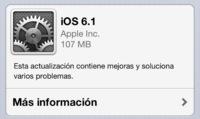 iOS 6.1 ya disponible, mejoras en iTunes Match, retoques gráficos y más compatibilidad LTE