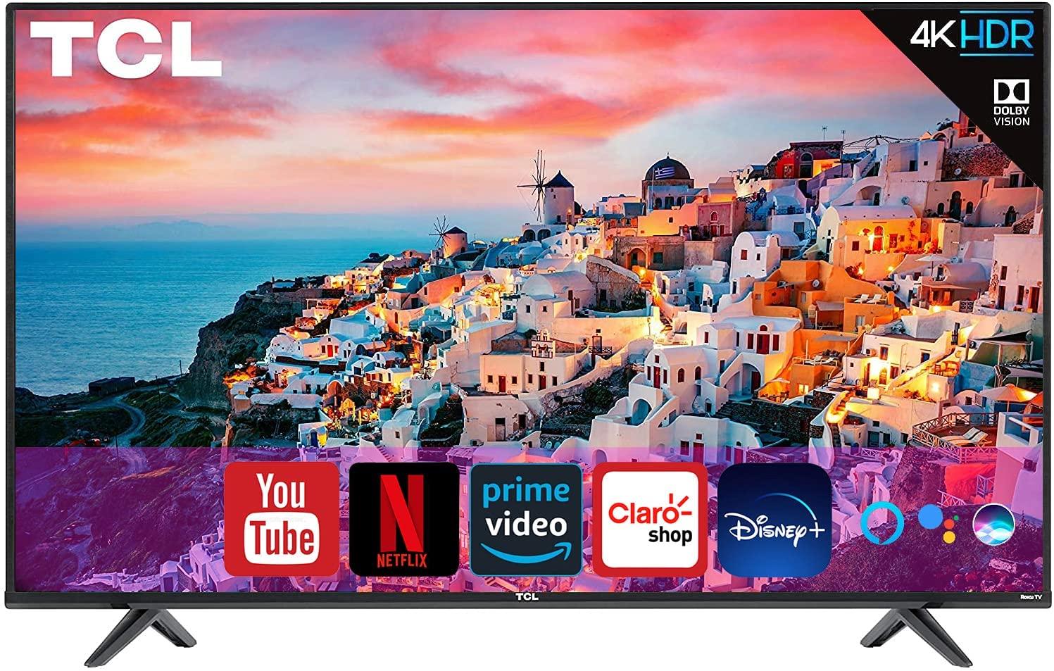 Pantalla TCL 65 pulgadas 4K, Smart TV con HDR10   Control de voz con Google Assistant y Alexa (Renewed)