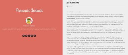 Por fin Paranoid Android 5.1 está disponible