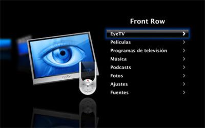 Integra EyeTV en FrontRow con PyeTV