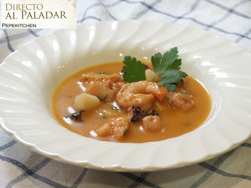 Sopa de marisco la mejor receta de sopa de marisco - Sopa de marisco y pescado ...