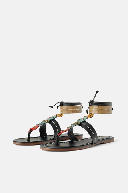 Sandalia Plana Zara 2019 08