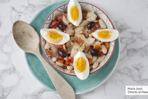 Empedrat: receta de ensalada de bacalao y judías para disfrutar del verano