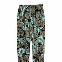 Pantalon Baggy Estampado Hojas
