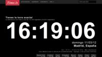 Time.is, o cómo saber si el reloj de nuestro ordenador tiene la hora correcta