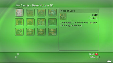Logros de Duke Nukem 3D en XBox Live Arcade