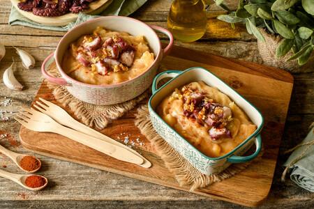 Patatas revolconas con pulpo o cómo darle una vuelta a la receta de pulpo a la gallega
