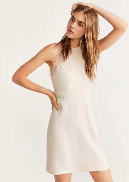 Vestido blanco mango outlet barato