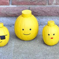 Hazlo tú mismo: cabezas de LEGO hechas con calabazas