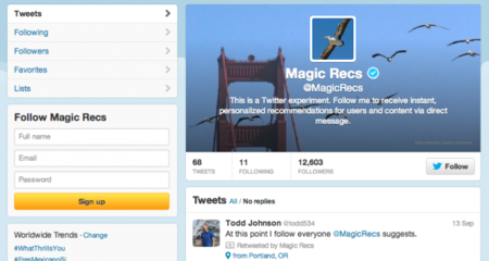 Magic Recs, el misterioso experimento de Twitter