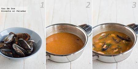 Mejillones en salsa picante. Receta paso a paso