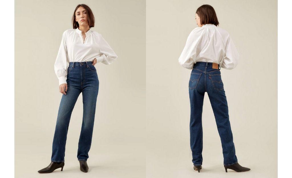 Vaqueros 70's high straight jeans