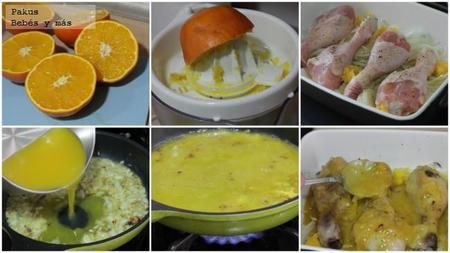 Muslos De Pollo Asados Con Zumo De Naranja Pasos