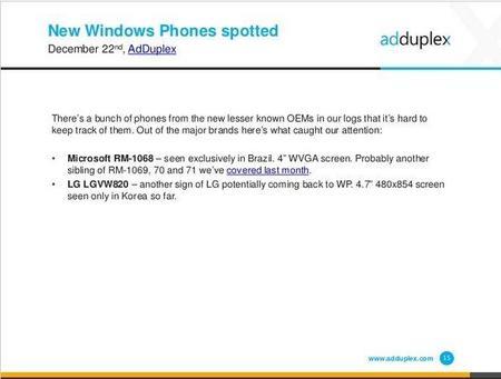 El nuevo Windows Phone de LG podría llegar para Verizon