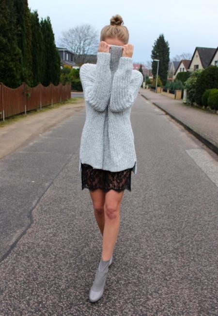 look jersey falda
