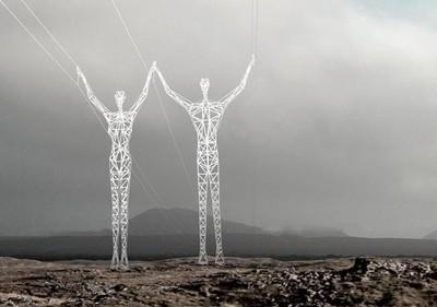 Islandia y sus increíbles torres eléctricas