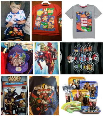 Productos de Disney donde solo aparecen personajes masculinos