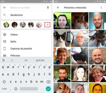 Google Fotos Reconocimiento Personas