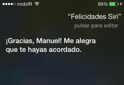 ¡Feliz tercer cumpleaños Siri!