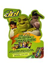 Shrek III viene acompañado de un dulce lanzamiento, el chocolate Jet Verde Shrek
