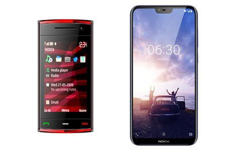 El Nokia X6 de 2009 frente al de 2018