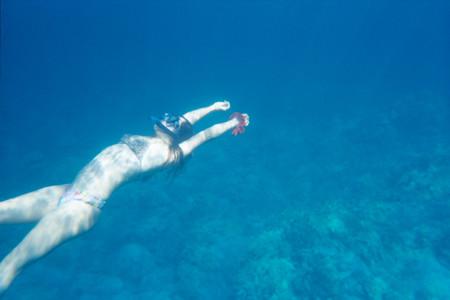 Imagen lomografica bajo el agua