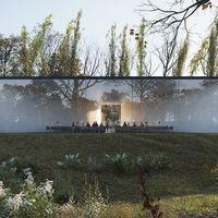 Una funeraria con pantalla multimedia y diseño integrado a la naturaleza: un adiós de una forma tecnológica